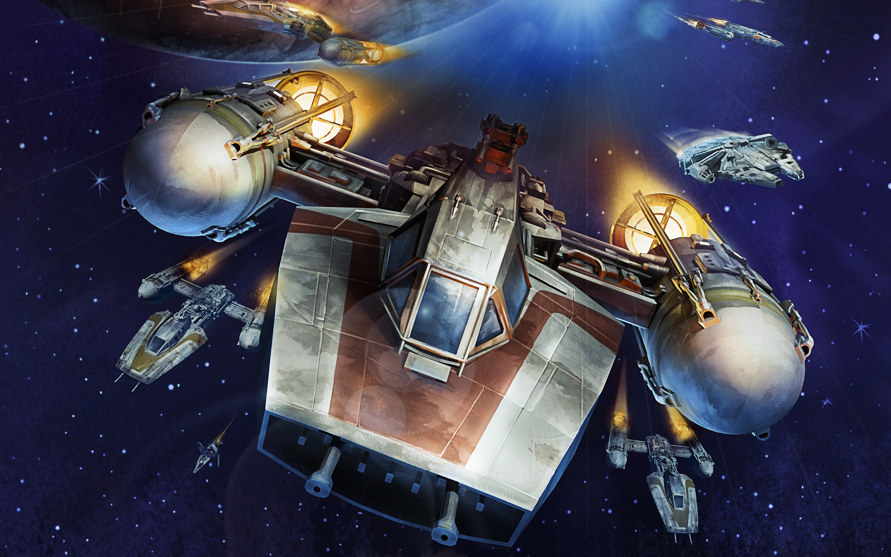 X Wing Thematic Squads Battle Of Endor Rebels The Jodo Cast