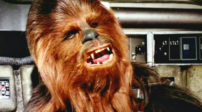 """""""Let him have it. It's not wise to upset a Wookiee."""""""